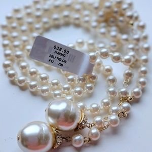 Francescas long pearl necklace